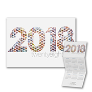 Hexagon Mosaic - Calendar Card